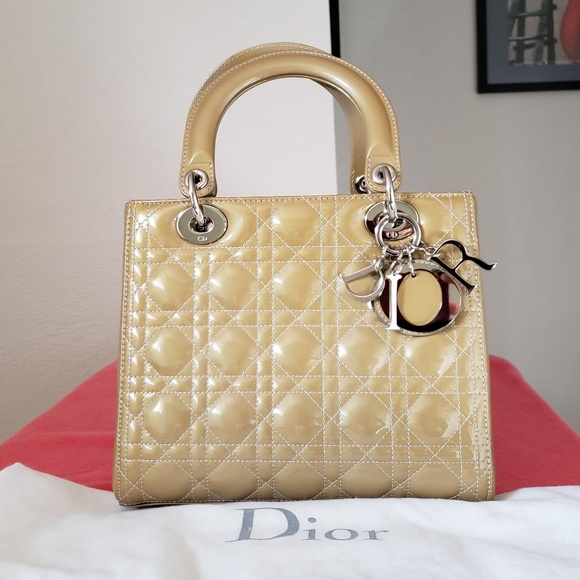 994be41e LADY dior medium patent leather bag